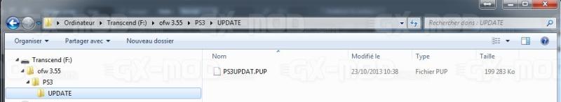 fichier pup ps3